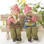 おすわり妖精 ドラゴンフルーツ  (2個組)  妖精 フェアリー ガーデニング ガーデン インテリア 小人