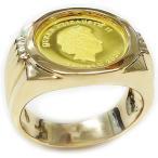 純金ゴールド コインリング ツバルホース 24金1/25oz 3dollars GOLD999.9 2020年メンズ 指輪 #20号サイズ/送料無料