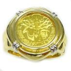 純金ゴールド コインリング ウィーンハーモニー 24金 1/25oz 4euro GOLD999.9 2020年メンズ 指輪 #18号サイズ/送料無料