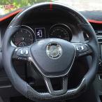 【全注文おまけ付】ゴルフ7 TSI GTI GTE アクセサリー カスタム パーツ VW 用品 リアルカーボンステアリング DG100