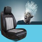 車載エアシートカバー 背中蒸れないシート クールシートカバー 送風式 簡単取付 ライター対応 通風性改善 快適 TD001