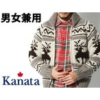 ショッピングカウチン カナタ カウチンセーター 鹿柄 男性用兼女性用 KANATA WOOL SWEATER DEER 6PLY DEER メンズ レディース セーター(25585580)