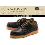 訳あり品 ニューイングランド 4アイ カトーメットモカシン メンズ 男性用 ブラック 26.5cm US8.5 NEW ENGLAND ne001