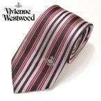 Vivienne Westwood【ヴィヴィアン ウエストウッド】メンズ★オーブ ストライプ柄ネクタイ★yvw123【909013 C32 color0001:ピンク】