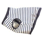 フレンチブルドッグ 服 パグ 服   ブルー&ホワイトポロ