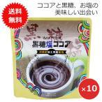 ココアパウダー 調整ココア 黒糖塩ココア 200g×10袋