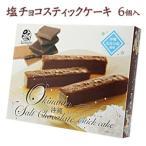 沖縄 お土産 お菓子 チョコレート 塩チョコスティックケーキ 6個