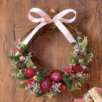 ショッピング正月 クリスマス・お正月2WAY手作りリースキット「プティピンク」 日比谷花壇