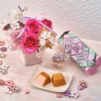 花とスイーツ 資生堂パーラー「春のチーズケーキ(さくら味)」とアレンジメントのセット 日比谷花壇