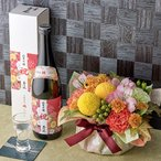 花とお酒 玉乃光酒造 純米吟醸 祝100   とアレンジメントのセット 日比谷花壇