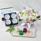 花とぬいぐるみ「1月のバースデーベア」 と アレンジメントのセット ピンク系 日比谷花壇