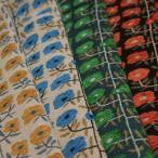 ポリエステル ゴブラン織 根付きフラワーストライプ ミックスカラー 4色 E[オーダーカット生地 10cm単位]