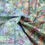 日本製 コットン 80ローン 240本 水面の風景プリント ミックスカラー 全2色 wonder forest J[オーダーカット生地 10cm単位]
