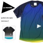 アンドワンダー and wander Tシャツ gradient color raglan short sleeve T AW81-JT018 トップス 半袖 速乾性 放湿冷却性 デオドラントステッチ スポーツ