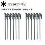 スノーピーク (snow peak) 【12本セット】 ペグ テント・タープ小物/ソリッドステーク30/R-103 【SP-TACC】