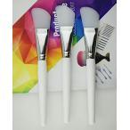 シリコーンマスクブラシマスク美容ツールソフトシリコーンマスク泥ブラシストレート泥マスクソフト化粧ブラシ1ピース(White)