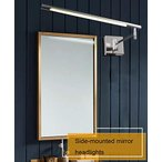 北欧LEDミラーヘッドライト - バスルーム用化粧ランプ防水防曇ミラーライトストレッチ調整サイドマウントバスルームミラーキャビネットライト