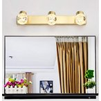 北欧銅ミラーヘッドライト - バスルームled化粧ランプバスルームミラーキャビネットドレッシングテーブルライト高級ミラーランプ