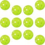 GP (ジーピー) 野球バッティングトレーニングボール 穴あき PE素材 蛍光緑 42mm 12個入り 34138