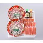 [関とら本店] 蟹とふくの紅白しゃぶしゃぶ食べくらべ TNK-8Z 真ふぐ霜降り刺身45g(国産原料)・  お取り寄せ おとりよせ お取り寄せグルメ ギフト