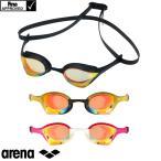 スイミングゴーグル 競泳 レーシング 競泳 アリーナ ARENA COBRA ULTRA コブラウルトラ FINA承認 ミラーゴーグル クッション付 swipe スワイプ AGL-O180M