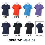 ARF-7104 ARENA(アリーナ) メガテックドライ チームラインTシャツ トレーニングウェア/アパレル/吸汗速乾/ユニセックス/メンズ/レディース