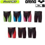ARN-7011MJ ARENA(アリーナ) ジュニア男子競泳水着 AQUAFORCE FUSION2 ジュニアハーフスパッツ 競泳水着/布帛素材/FINA承認/子供用/スパッツ