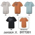 DY77201 DANSKIN(ダンスキン)レディース TCドライ天竺 ワイドTシャツ アパレル/トレーニングウェア/女性用/フィットネスウェア/YOGA ヨガ