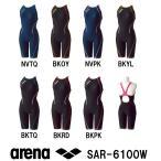 アリーナ ARENA 競泳練習水着 タフスーツ レディース 女性用 ハーフスパッツ タフスキンストライプ 着やストラップ SAR-6100W-HK