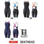 SD47H042 SPEEDO(スピード) レディース競泳水着 FLEX Cube ウイメンズセミオープンバックニースキン 女性用/競泳/FINA承認-HK