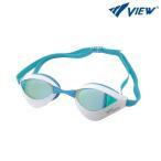 水泳ゴーグル V230MR-AMWY VIEW(ビュー) クッション付きスイムゴーグルBlade ORCA(ブレードオルカ)ミラータイプ  FINA承認/水泳/競泳用/レーシング/低抵抗