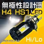 送料無 LEDヘッドライト Hi/Lo H4 HS1 バイク/車両用 20w 2500lm 無極性設計 COBチップ 6000k 冷却ファン前置き ブラック LEDバルブ 1灯 BMT