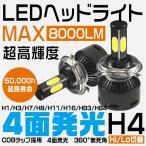 5%クーポン!LEDヘッドライトフォグランプH1H3H7H11H8HB4HB3H4Hi/Lo 8000LM CREE製 四面発光 高輝度LEDバルブ2個zg