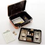 ショッピング保険 アルミを使用した浅型手提げ金庫 シリンダー錠 コイントレー付