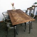 Yahoo!ヒマラヤネットモミ古材ダイニングテーブルヘリンボーン柄ブルックリンヴィンテージスタイル kkkez