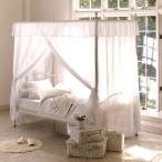 天蓋ベッド プリンセス シェーンベッドホワイト(フレームのみ)