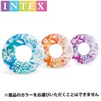 INTEX クリアカラーチューブ91cm ブルー 59251