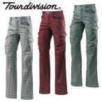 ショッピングTOUR ツアーディビジョン ( Tour division ) ゴルフ パンツ ( メンズ ) 柄プリント裏フリース防風パンツ  TD220207E03