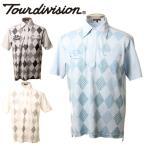 ツアーディビジョン TOUR DIVISION ゴルフウェア メンズ ダイヤ柄半袖ポロシャツ TD220101E06