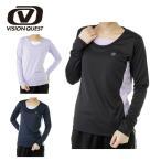 ビジョンクエスト VISION QUEST Tシャツ 長袖 レディース UV機能ロングスリーブTシャツ VQ451202E52