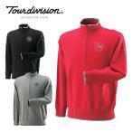 ツアーディビジョン TOUR DIVISION ゴルフウェア セーター メンズ コットンハーフジッパーセーター TD220204E14