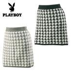 プレイボーイ ( PLAYBOY )  ゴルフウェア ( レディース )  チドリ柄ニットスカート 5486-8461