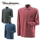 ツアーディビジョン(Tour division) ゴルフウェア(メンズ) 発熱T/Cバーズアイ長袖ポロシャツ TD220202E14