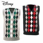 ディズニー Disney ゴルフ メンズ アーガイルVネックベスト 5532-0617