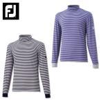 フットジョイ Foot Joy ストライプモックシャツ FJ-F15-S61 ゴルフ 長袖裏起毛ハイネックTシャツ メンズ