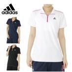 アディダス ハーフジップ 半袖シャツ レディース ハーフジップ機能Tシャツ BUJ67 adidas