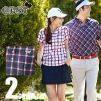 オプスト OPST ゴルフウェア レディース チェック半袖シャツ OP220301F04