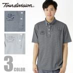 ツアーディビジョン Tour division ゴルフウェア メンズ 千鳥柄JQ半袖ポロシャツ TD220101F02