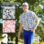 ツアーディビジョン Tour division ゴルフウェア メンズ リゾート柄半袖ボタンダウンポロシャツ TD220101F06