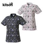 キットソン KITSON ゴルフ 半袖ポロシャツ レディース パームツリー総柄半袖シャツ 0362130